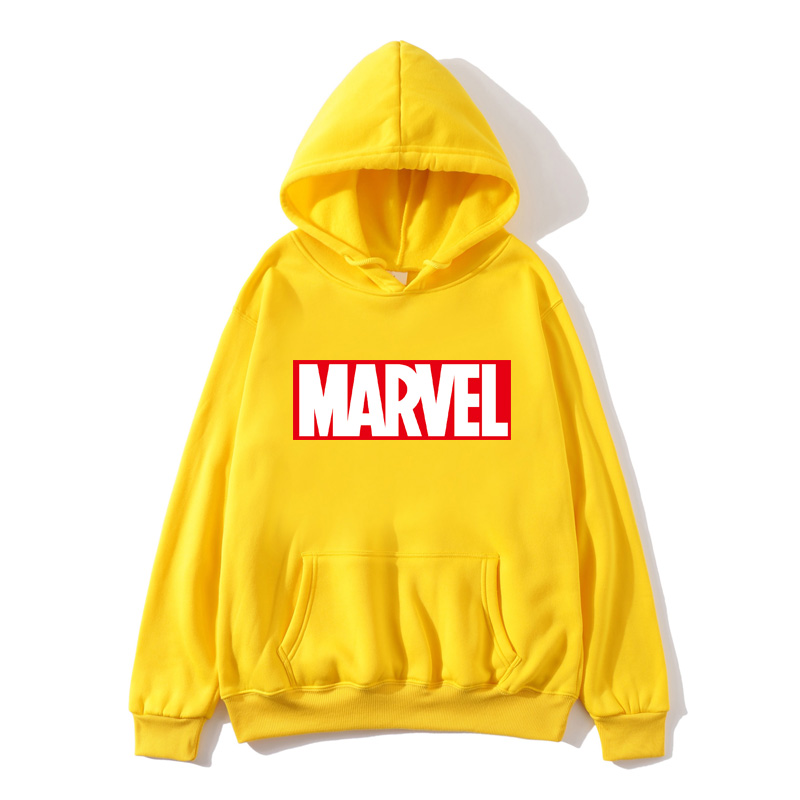 Ladies Hoodie Thick Men And Women Autumn And Winter Brand Sports Shirt Ladies High Quality MARVEL Letter Printing