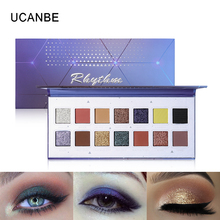 UCANBE Rhythm Eyeshadow Makeup Palette 14 Colors Shimmer Matte Nude Long Lasting Eye Shadow Luminous Powder Cosmetics novo 18 colors nude eyeshadow palette shimmer matte pressed eye shadow powder makeup glitter palette lasting eyes cosmetics