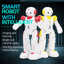 JJRC R12 Robo Programmable Music Dancing Lighting Educational Intelligent Vector Robot Toy For Children Robotica Kit Human Robot(China)