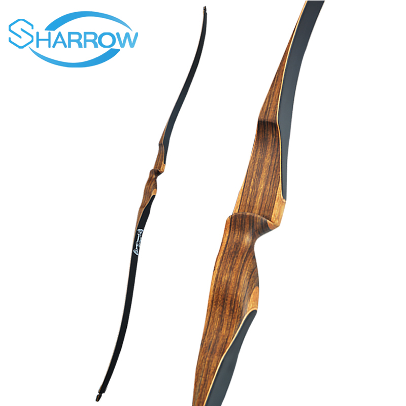 52inch Archery Long Bow 10-30lbs Recurve Bow Traditional Bow Wooden Bow For Archery Hunting Target Shooting Practice Competition