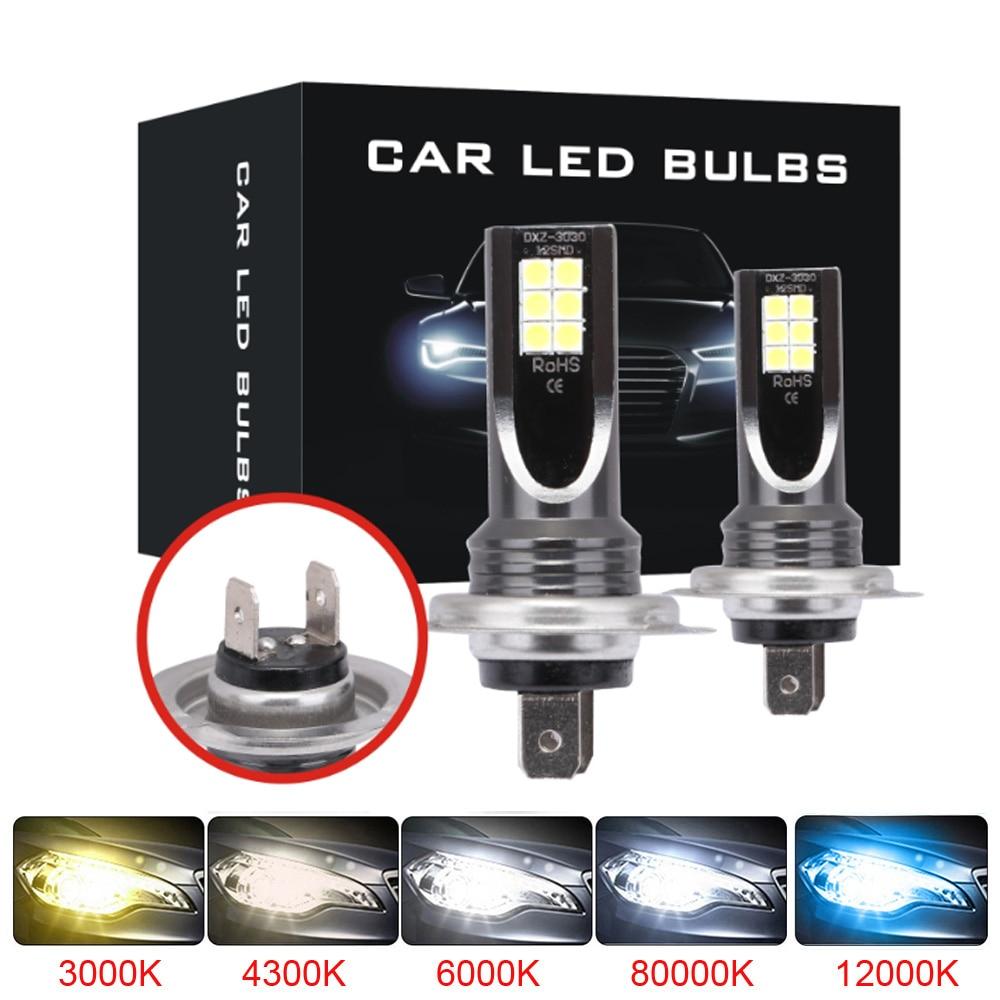 2 Pcs Car Led Fog lamp Headlight 12000LM H1 H3 H7 H8 H9 H11 9005 HB3 9006 H4 9003 Hi/Lo 3000K 6000K 8000K Auto HeadLamp Bulb