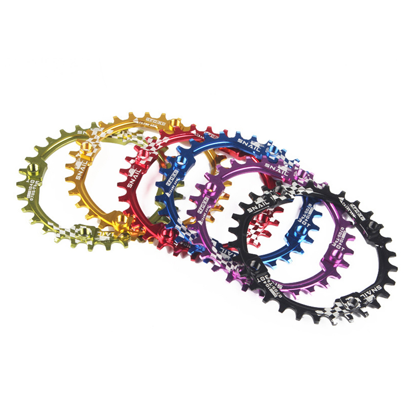 Deckas 104bcd redondo estreito largo chainring 30t única liga de alumínio roda para bicicleta estrada mountain bike mtb