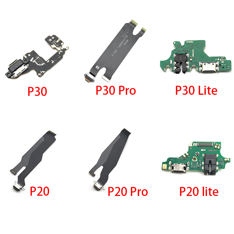 10Pcs/Lot,USB Charging Port Mic Microphone Dock Connector Board Flex Cable For Huawei P10 Plus P20 Pro P30 P9 P8 Lite 2017 Mini