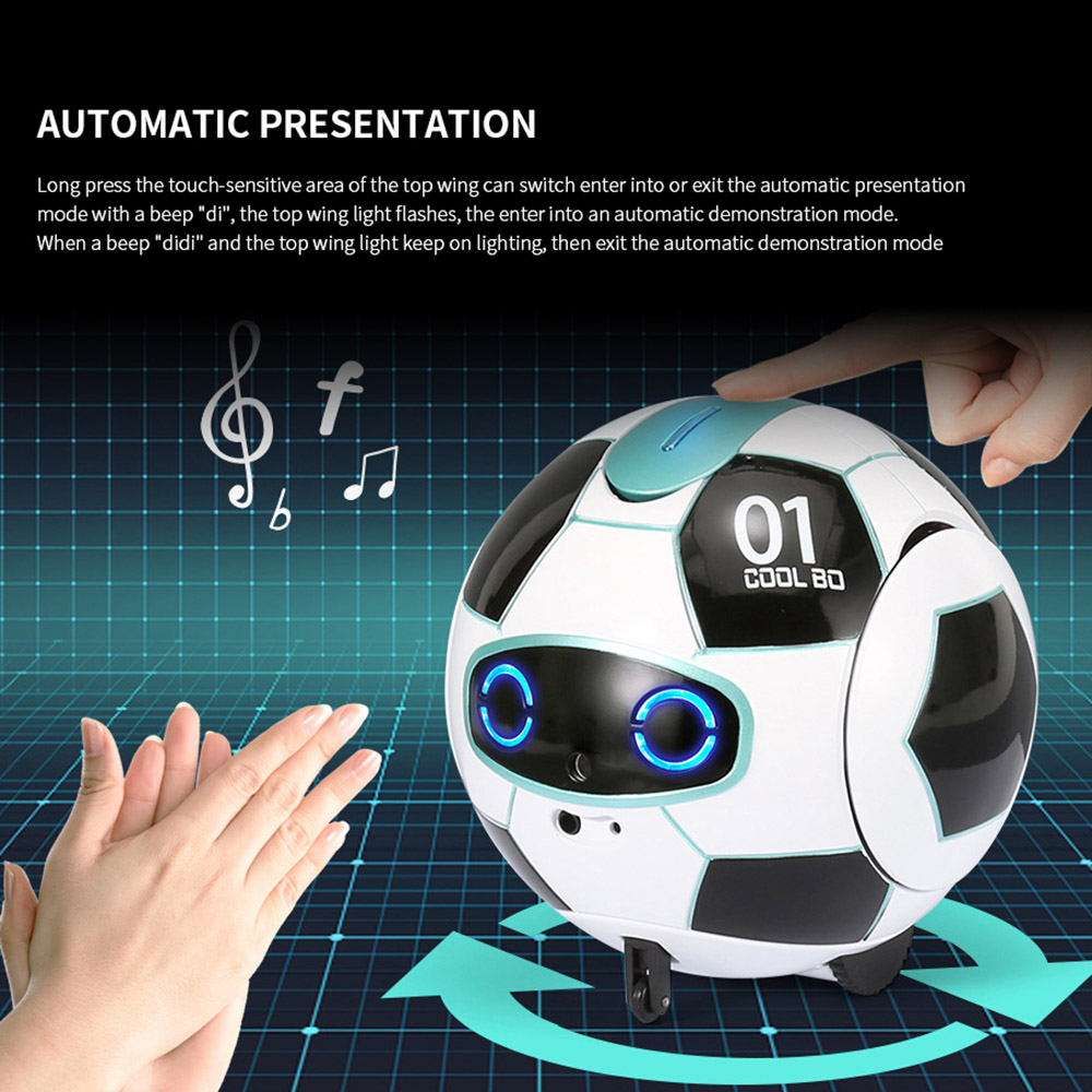 Intelligent RC Vector Robot Toy 2.4G Remote Control Soccer Robots With Sound Action Figure Ball Robot Kid Toys for Children Kids