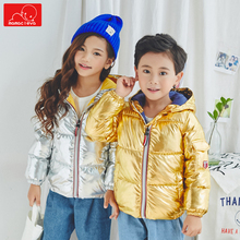цены fashion kids winter coat girls boys hooded jacket clothes warm children outerwear toddler cotton overcoat clothing