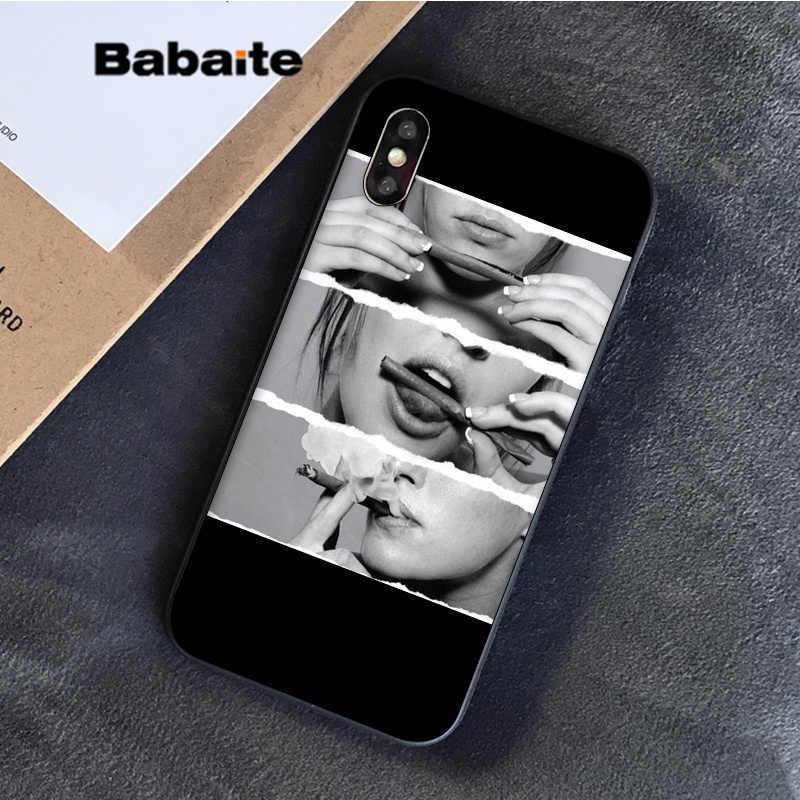 Babaite الاعشاب السجائر التدخين عرض خاص الفاخرة غطاء إطار هاتف محمول ل فون 8 7 6 6S زائد 5 5S SE XR X XS ماكس كوكه شل
