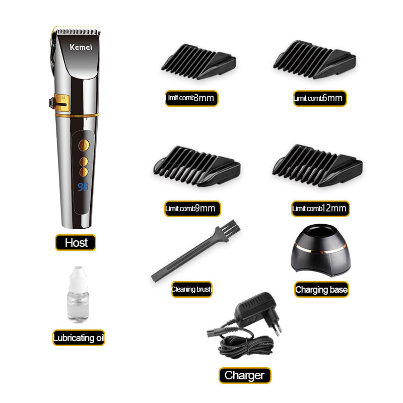 Kemei Professional Electric Hair Clipper 2 Hours Fast Charging Hair Clipper DIY Hair Removal Household Styling Tool KM 9160 in Hair Trimmers from Home Appliances