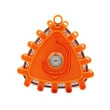 Traffic Safety Warning Light Orange Strong Magnetic LED Triangle Flash Car Road Signal Emergency Night Protection 10*9.9*3.5cm