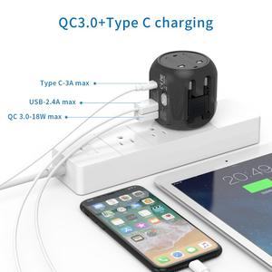 Image 3 - NTONPOWER Universal Adapter Alle In One International Travel Plug Adapter mit Typ C QC 3,0 Wand Ladegerät für UNS/EU/AU/UK