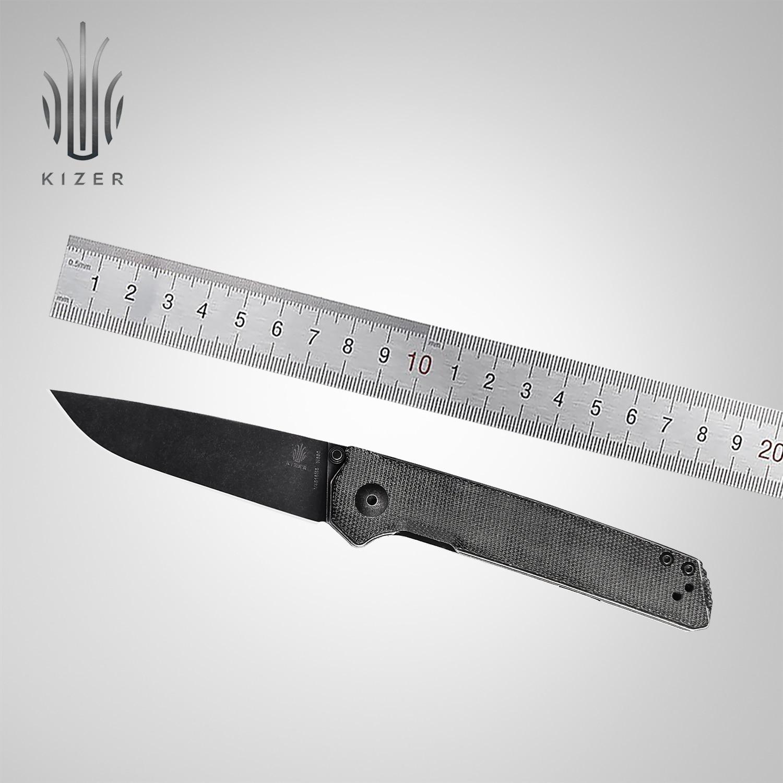 Kizer Folding Pocket Knife V4516N5 Domin 2020 New Micarta Handle with Black Stonewashed Blade Outdoor Camping Tools