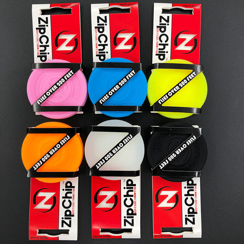 Outdoor Beach Party Games ZipChip Mini Pocket-Sized Flying Discs Glow in The Dark
