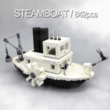 842pcs Creator Ideas Steamboat Willie Compatible 21317 Building Blocks Movie Series Bricks Set Kids Toys for Children Gifts