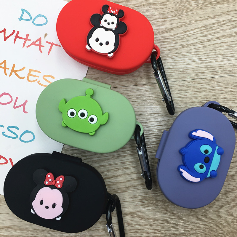 Cartoon Earphone Case For Xiaomi Redmi Airdots Case Silicone Cover Bluetooth Earphone Case With Hook For Redmi Airdots