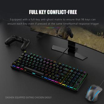 RedThunder Red Switch Mechanical-Keyboard 98-Key New Layout Gaming-Keyboard Up to 15 Cool Lighting Effects Designed for Games 4