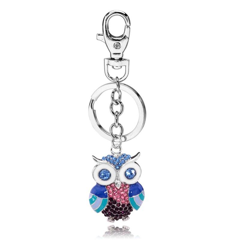 TOGORY, улыбка, мышь, опалы, кристалл, эмаль, сумочка, брелки, брелки для автомобиля, кошелек, сумка, пряжка, брелки, держатель для женщин - Color: KY02