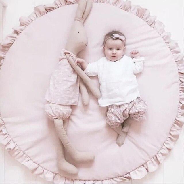 Tapis pour enfants en coton jouets bébé tapis de jeu sur le sol filles ramper tapis pépinière chambre denfants tapis de jeu Center de livraison directe