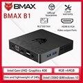 Bmax B1 Mini PC Intel Celeron J3060 Dual Core 1.6GHz up to 2.4GHz 4GB LPDDR3 64GB eMMC Intel HD Graphics Wifi bluetooth