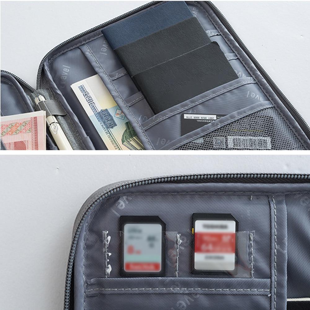 1pcs Passport Travel Wallet Holder Waterproof Multi-Function Credit Card Wallets Organizer Document Bag ID Card Storage Pack
