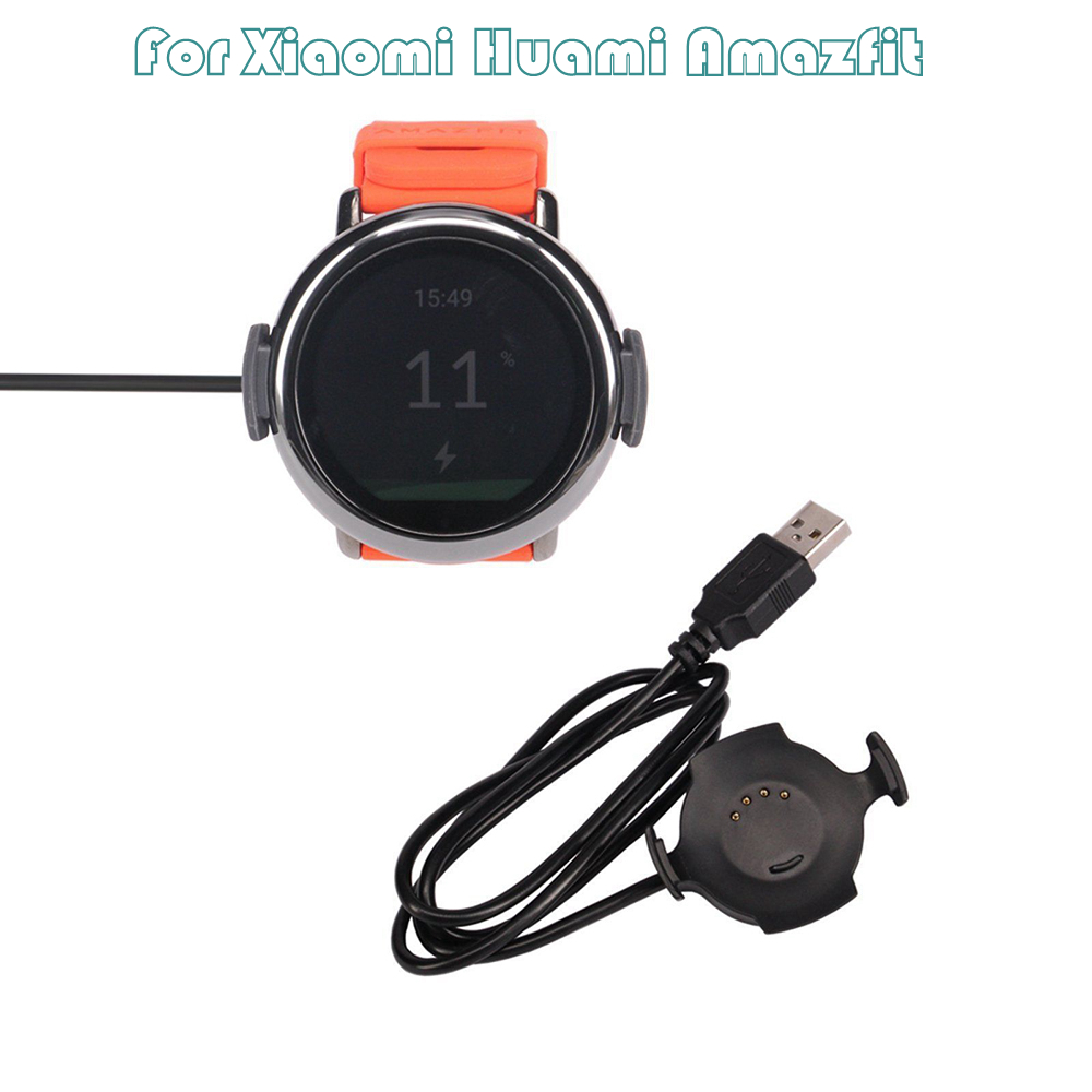 New 1m USB Fast Charger <font><b>Charging</b></font> Cradle Dock For Xiaomi <font><b>Huami</b></font> <font><b>Amazfit</b></font> Pace Watch Phone Accessories & Parts image