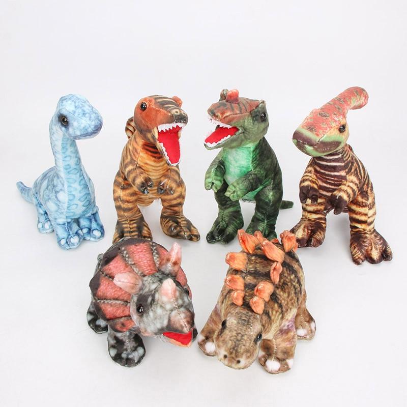 Dinossauro de pelúcia tyrannosaurus rex allosaurus triceratops stegosaurus recheado brinquedos do bebê criança boneca para o aniversário de natal