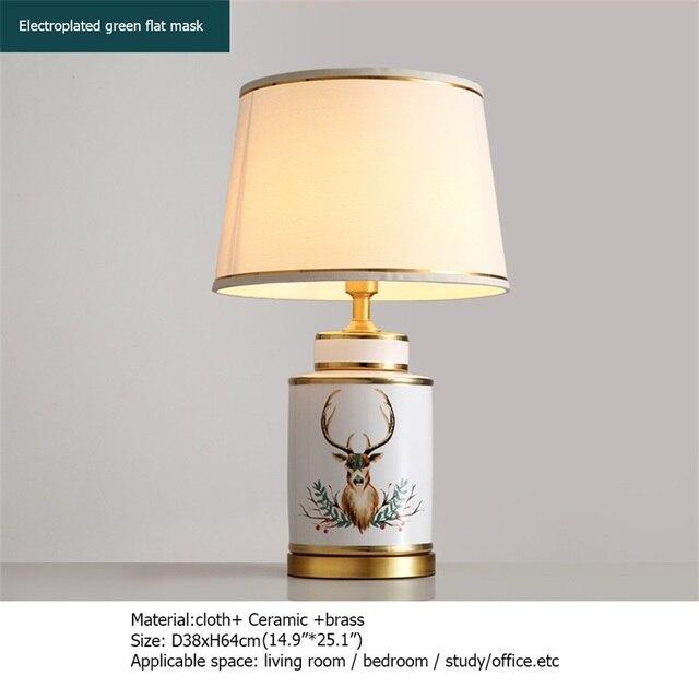 Купить керамические настольные лампы oufula латунный светильник для картинки цена
