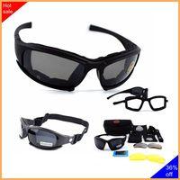 نظارات تكتيكية X7 نظارات شمسية مستقطبة Airsoft الألوان للتنزه بنظارات عسكرية للصيد واطلاق النار مع 4 عدسات-في نظارات التنزه من الرياضة والترفيه على