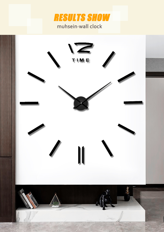 Muhsein 2020 New Arrival Wall Clocks Creative Modern Wall Stickers Clock Unique 3d Diy Big Digital Clock Home Decor Freeshipping Mega Sale F06a0 Cicig