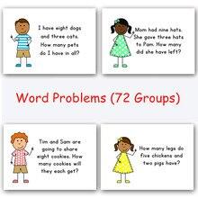 72 grupos/conjunto inglês aprendizagem cartão pergunta jogos puzzles para crianças brinquedos jogos juegos educativos cedo brinquedo