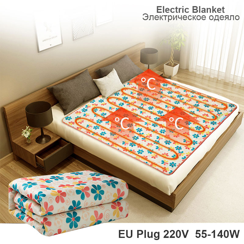 Heated Mattress Single Double Body Warmer Electric Blanket 220v 50-140w Heated Blanket Thermostat Electric Heating Blanket