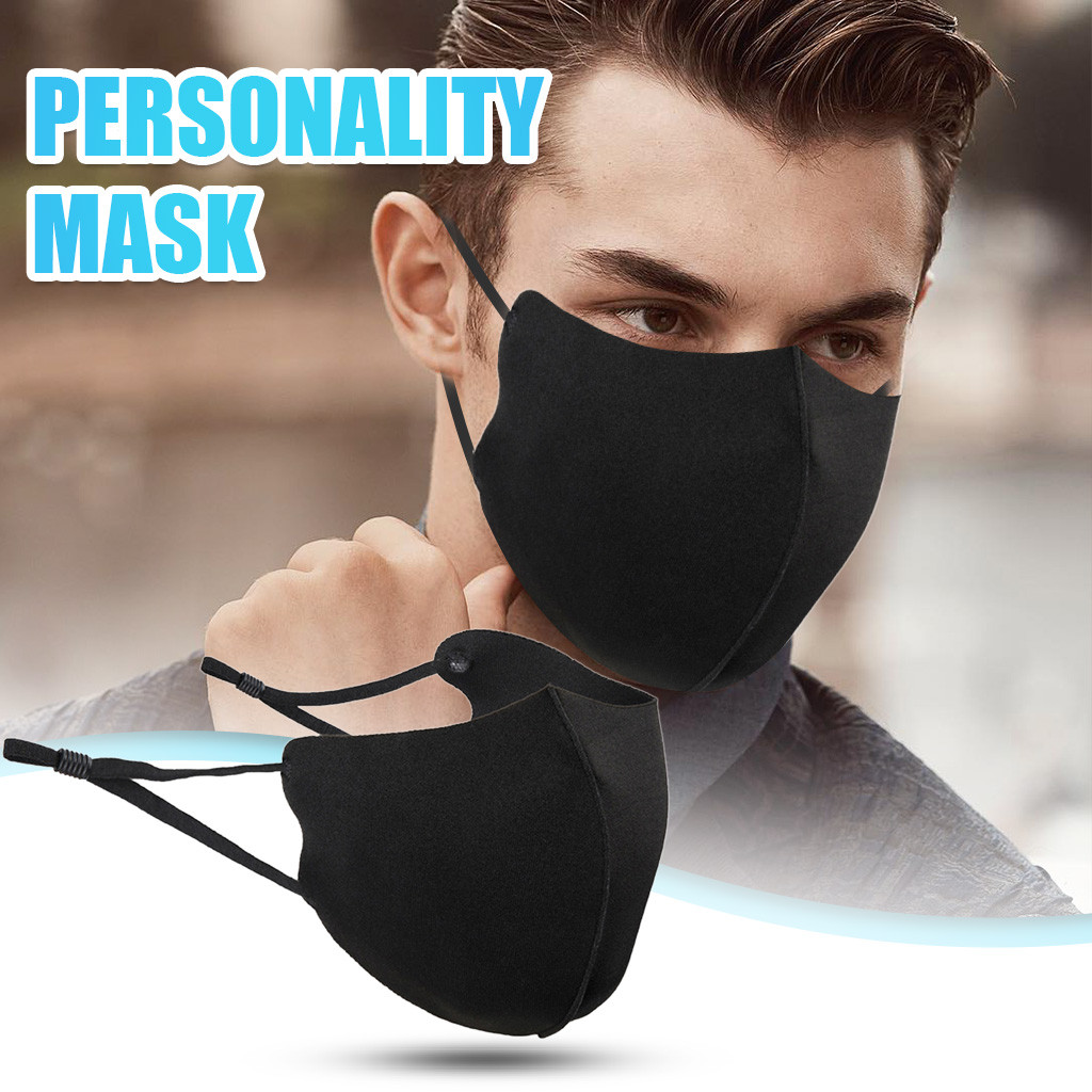 Unissex lavável boca cobrindo mascarillas para adultos algodão preto máscara protetora de carbono ajustável dustproof máscaras