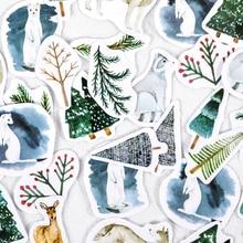 Diary-Decoration Sticker Album Scrapbooking Winter Package Vintage Mini Forest DIY 45pcs/Box