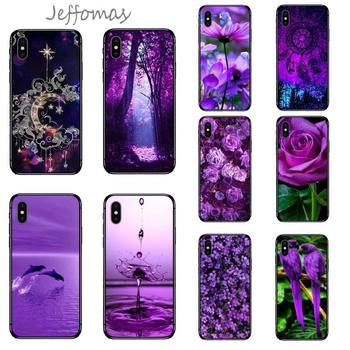 infinity on purple flower Phone Case for iPhone 11 12 mini pro XS MAX 8 7 6 6S Plus X 5S SE 2020 XR image