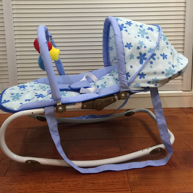 Portable Baby Rocking Chair, can sit can lie Multifunctional Baby Cradle, steel pipe Baby Chair with mosquito net 1