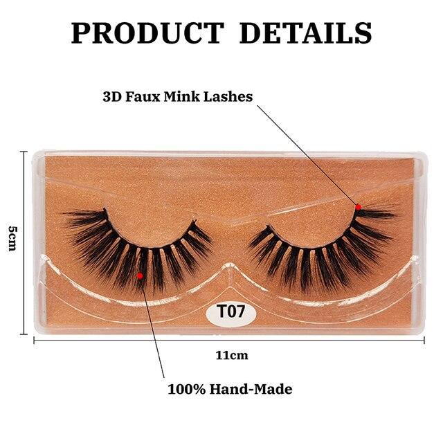 3D eyelashes Wholesale lashes 10/20/30/50pcs mink lashes Natural with Eyelash beauty Supplies makeup false eyelashes faux cils 2