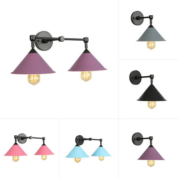 Nordic bedroom wall lamp modern simple makaron background wall lamp living room aisle bedside decorative lamp nordic simple living room wall lamp bedroom bedside lighting creative aisle background crystal glass wall sconce light fixture