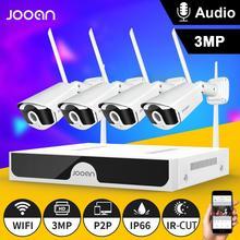 نظام الدائرة التلفزيونية المغلقة اللاسلكية 1080P 1 تيرا بايت HDD 3MP 8CH NVR IP IR CUT في الهواء الطلق CCTV 4CH IP كاميرا مجموعة نظام الأمن طقم مراقبة الفيديو