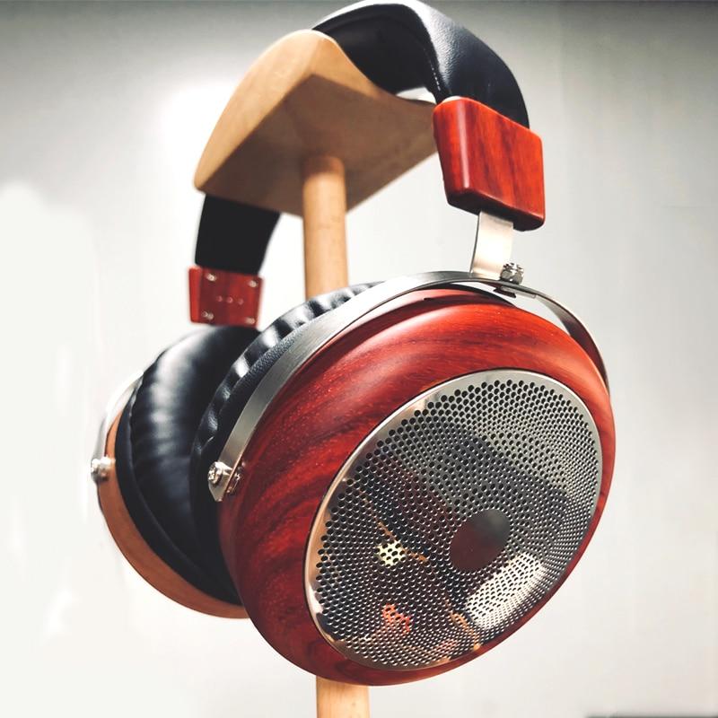 Boîtier casque HiFi en bois naturel sur l'oreille casque coque bricolage 50MM 40MM