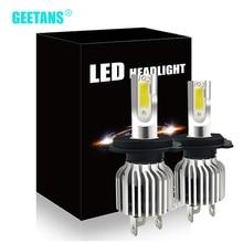 цена на GEETANS Mini Car Headlight LED H4 H7 6000K LED Bulb H11 H8 H9 H1 H3 9005 9006 HB2 HB3 HB4 880 881 H27 Auto Fog Light Lamp CJ