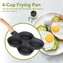 2020 New Fried egg pot non-stick pan household mini poached egg burger egg dumpling pot mold four holes small fried egg artifact