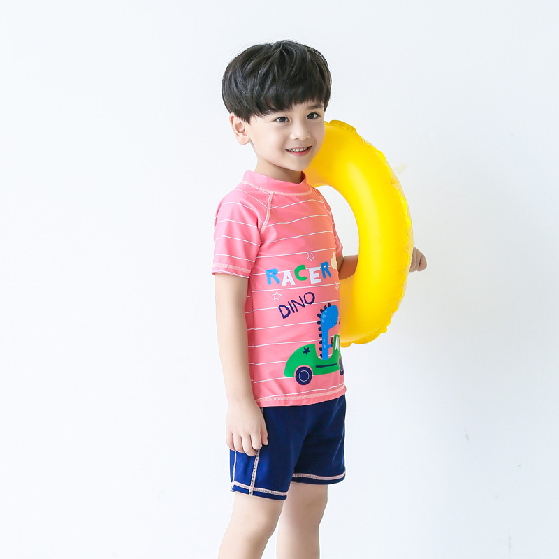 KID'S Swimwear Boy Baby Big Boy Teenager Students Split Type Cute Cartoon Swimming Trunks Students Tour Bathing Suit