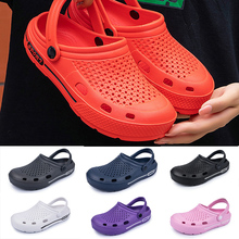 Flat Sandals Slippers Hole-Shoes Couple Newbeads Crocks Men's Casual Beach Unisex Home