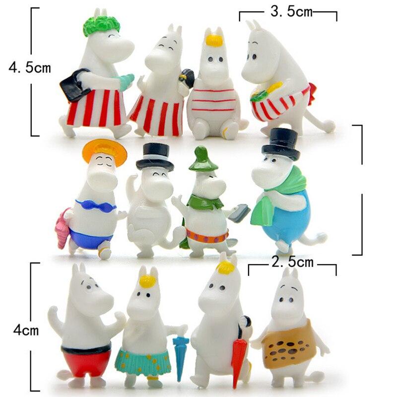 12 Pc Dollhouse Puzzle Cascade Hippopotamus Family Miniature Figures Jenga Micro Layer DIY Landscape PVC Model Creative Toy Gift-5