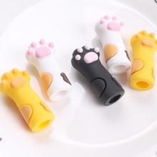 Cute Cartoons Cat paw cuticle nipper silicone protective casing nail art tool