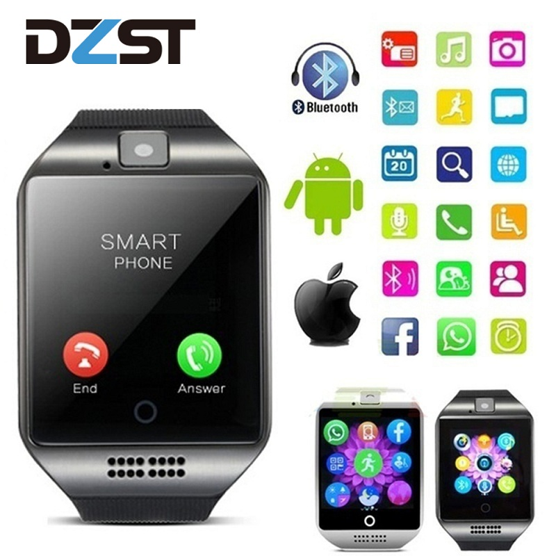 DZLST 2020 New Q18S Smart Watch Support SIM TF Card Bluetooth Clock Smartwatch Music Camera Smart Watches for IOS Android Phone