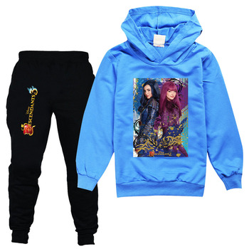 2021 descendant 3 spring girl's set tracksuit full sleeve hoodied sweatshirt pockets pants suit two piece set outfits sweatsuit