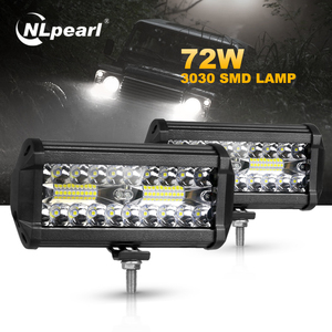 Nlpearl 4/7 inch Car Light Assembly 3 Rows 120W Combo Fog Lights for Cars Led Work Light Bar for Offroad Tractor Truck 4x4 SUV