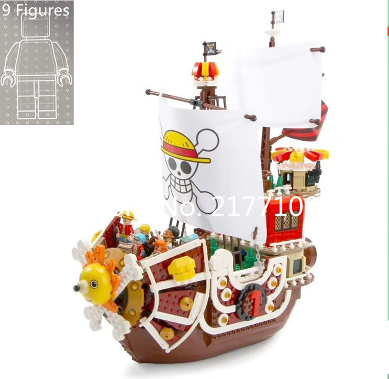 432pcs One PiecesThousand Sunny Pirate Ship Model Figures Building blocks