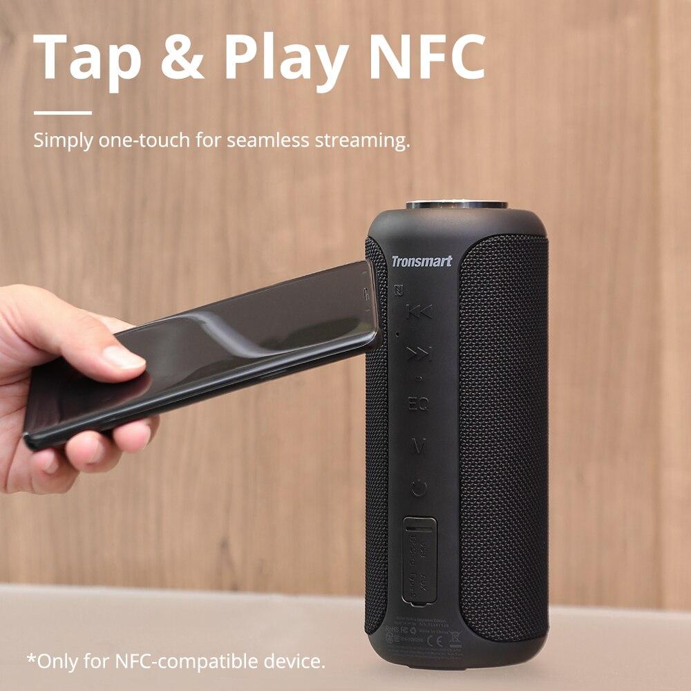 Tronsmart T6 Plus (édition améliorée) Bluetooth 5.0 haut-parleur 40W Portable TWS haut-parleur IPX6 colonne avec NFC, carte TF, clé USB - 4