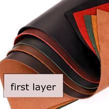 Qualidade superior peça de couro bronzeado diy material de couro genuíno grão cheia couro couro peça leathercraft 8 cores