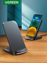 Ugreen Soporte de cargador inalámbrico Qi para móvil, estación de carga rápida inalámbrica, para iPhone 12 Pro, X, XS, 8, XR, Samsung S9, S10, S8, S10E